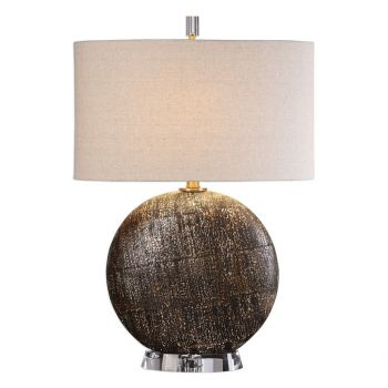 "Uttermost Chalandri 28.25"" Lamp in Distressed Rust Brown"