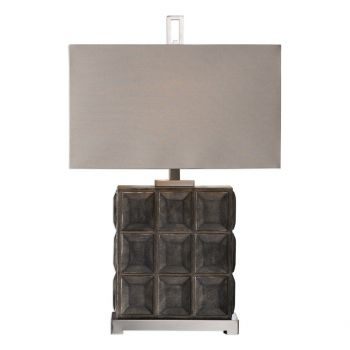 "Uttermost Kastoria 30"" Block Lamp in Dark Bronze"