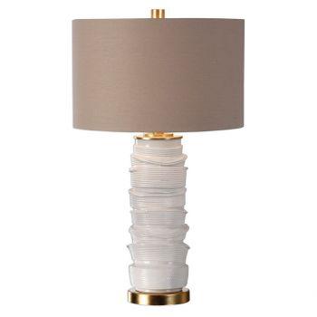 """Uttermost Codru 28.25"""" Ceramic Lamp in Gloss White"""