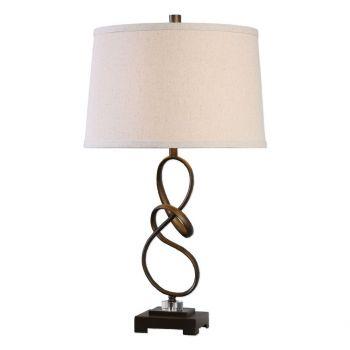 "Uttermost Tenley 27.25"" Twisted Steel Table Lamp in Oil Rubbed Bronze"