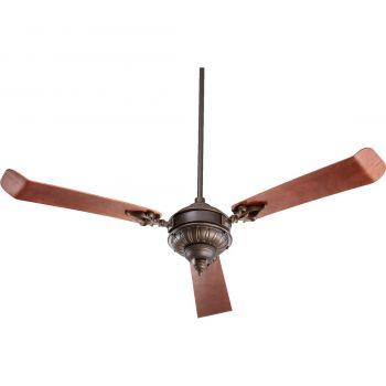 "Quorum Brewster 60"" 3-Blade Ceiling Fan in Oiled Bronze"