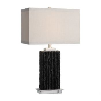 """Uttermost Pravus 27"""" Table Lamp in Black Slate"""