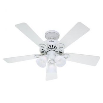 "Hunter Other 44"" 3-Light Indoor Ceiling Fan in White"