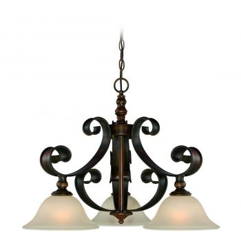 Craftmade Seville 3-Light Traditional Chandelier in Spanish Bronze