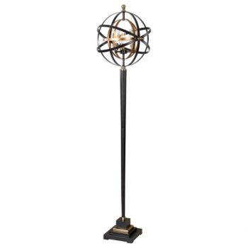 "Uttermost Rondure 72"" 3-Light Sphere Floor Lamp in Dark Oil Rubbed Bronze"