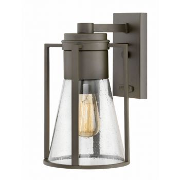Hinkley Refinery Outdoor Medium Wall Sconce in Oil Rubbed Bronze