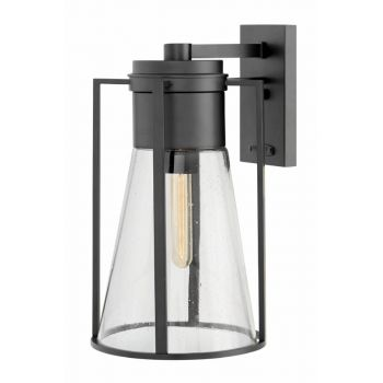 Hinkley Refinery Outdoor Large Wall Sconce in Black