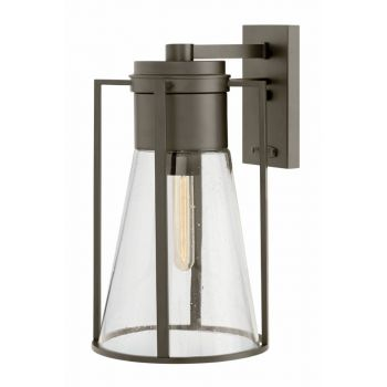 Hinkley Refinery Outdoor Large Wall Sconce in Oil Rubbed Bronze
