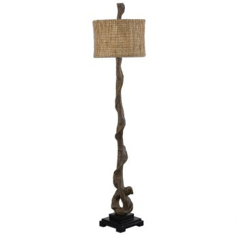 """Uttermost Driftwood 69.5"""" Floor Lamp in Weathered Driftwood"""