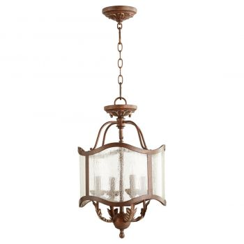 "Quorum Salento 13"" 4-Light Pendant in Vintage Copper"