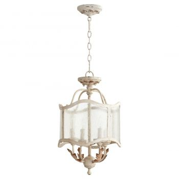 "Quorum Salento 13"" 4-Light Pendant in Persian White"