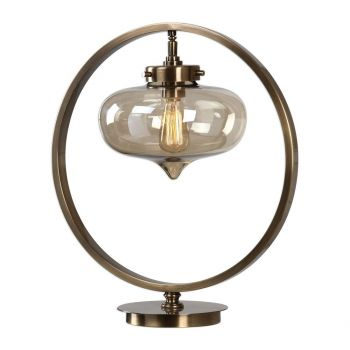 """Uttermost Namura 21"""" Accent Lamp in Antique Plated Brass"""