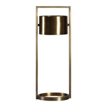 """Uttermost Ilario 26.75"""" Suspended Drum Shade Lamp in Plated Antique Brass"""