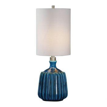 """Uttermost Amaris 30.75"""" Lamp in Aged Dark Blue"""