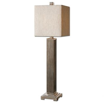 """Uttermost Sandberg 36"""" Buffet Lamp in Aged Gray Washed Wood"""
