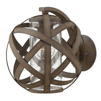 Hinkley Carson 1-Light Outdoor Small Wall Mount in Vintage Iron