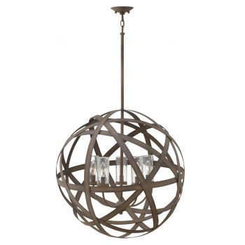 Hinkley Carson 5-Light Outdoor Chandelier in Vintage Iron