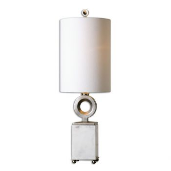 """Uttermost Palos 30.75"""" Buffet Lamp in White Alabaster"""
