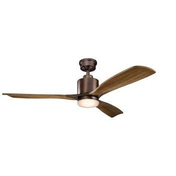 """Kichler Ridley II 52"""" Ceiling Fan in Oil Brushed Bronze"""