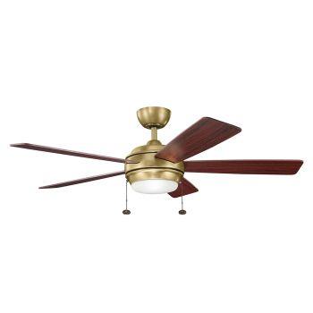 "Kichler Starkk 52"" Ceiling Fan in Natural Brass"
