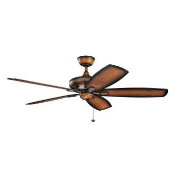 """Kichler Ashbyrn 60"""" Ceiling Fan in Mediterranean Walnut"""