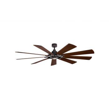 "Kichler Gentry 85"" XL LED Ceiling Fan in Weathered Zinc"