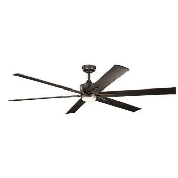 """Kichler Szeplo Patio 80"""" LED Ceiling Fan in Olde Bronze"""