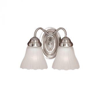 Millennium Lighting 300 Series 2-Light Bath Vanity in Satin Nickel