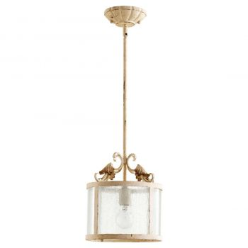 "Quorum Florence 10.75"" Pendant in Persian White"