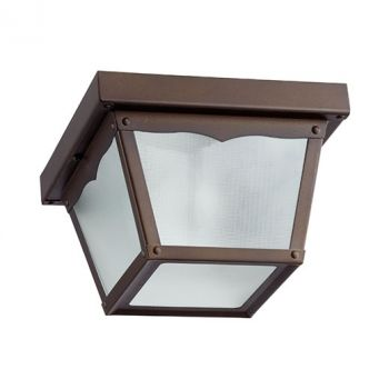 "Quorum International Traditional 8"" Outdoor Ceiling Light in Oiled Bronze"