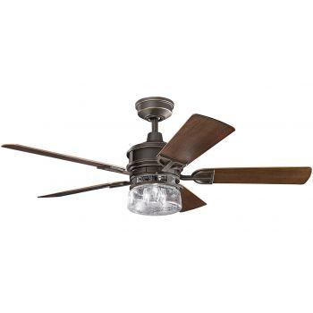 """Kichler Lyndon Patio 52"""" Ceiling Fan in Olde Bronze"""