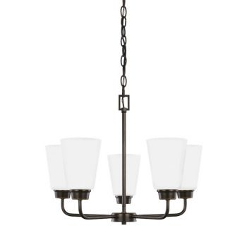 Sea Gull Lighting Kerrville 5-Light Chandelier in Heirloom Bronze
