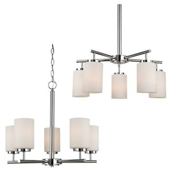 Sea Gull Lighting Oslo 5-Light Chandelier in Chrome