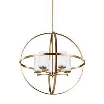 "Sea Gull Lighting Alturas 27.25"" 5-Light Chandelier in Satin Bronze"