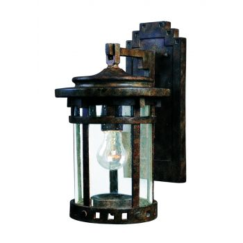 Maxim Lighting Santa Barbara Cast 1-Light Outdoor Wall Lantern in Sienna