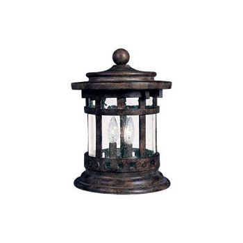 Maxim Lighting Santa Barbara Cast 3-Light Outdoor Deck Lantern in Sienna