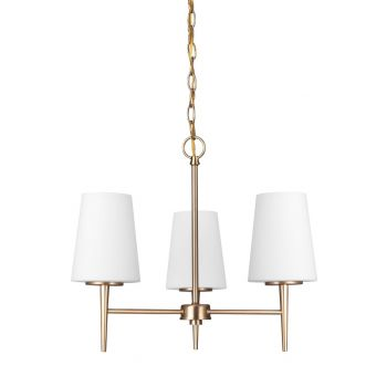 "Sea Gull Lighting Driscoll 20.5"" 3-Light Chandelier in Satin Bronze"