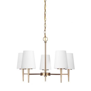 "Sea Gull Lighting Driscoll 25.25"" 5-Light Chandelier in Satin Bronze"