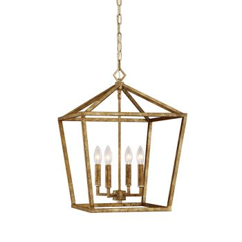 Millennium Lighting 3000 Series 4-Light Pendant in Vintage Gold