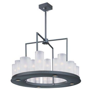 Maxim Lighting Urban Nights 28-Light Chandelier in Textured Black