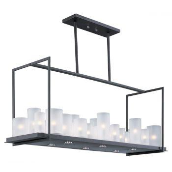 "Maxim Lighting Urban Nights 47.2"" 29-Light Chandelier in Textured Black"