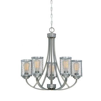 Millennium Lighting Akron 5-Light Chandelier in Brushed Pewter