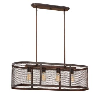 Millennium Lighting Akron 4-Light Island in Rubbed Bronze