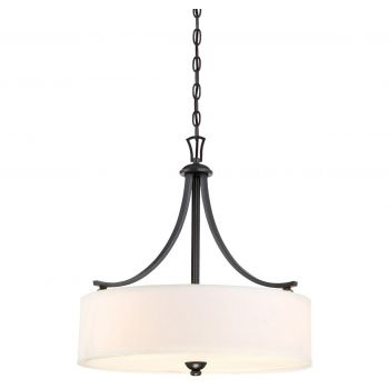"Minka Lavery Shadowglen 3-Light 20"" Pendant Light in Lathan Bronze with Gold Highli"