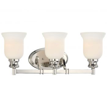 "Minka Lavery Audrey'S Point 3-Light 22"" Bathroom Vanity Light in Polished Nickel"