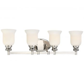 "Minka Lavery Audrey'S Point 4-Light 31"" Bathroom Vanity Light in Polished Nickel"