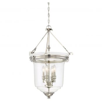 "Minka Lavery Audrey'S Point 4-Light 20"" Pendant Light in Polished Nickel"