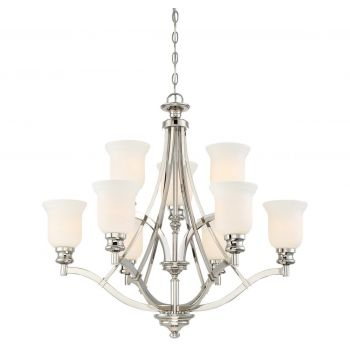 Minka Lavery Audreys Point 9-Light Chandelier in Polished Nickel