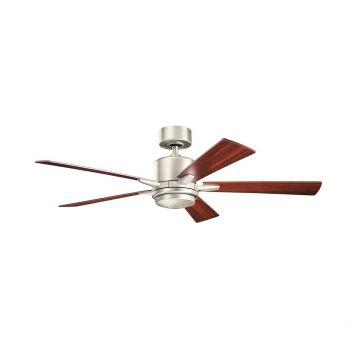 "Kichler Lucian 52"" LED Ceiling Fan in Brushed Nickel"