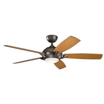 """Kichler Geno 54"""" LED Ceiling Fan in Olde Bronze"""